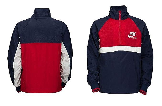 f2e69b44a956b Amazon.com: Nike Men's Half Zip Woven Archive Athletic Rain Jacket ...