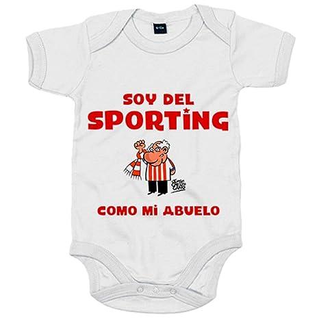 Body bebé soy del Sporting de Gijón como mi abuelo - Blanco ...