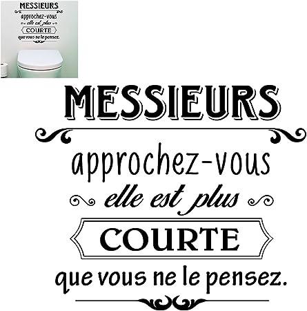Stickers Muraux Citation Humour 50 X 70 Cm Amazon Fr Cuisine