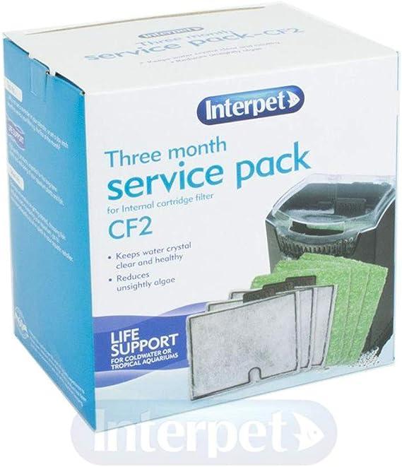 Interpet 3 Month Service Pack for Internal Cartridge Filter, CF2: Amazon.co.uk: Pet Supplies