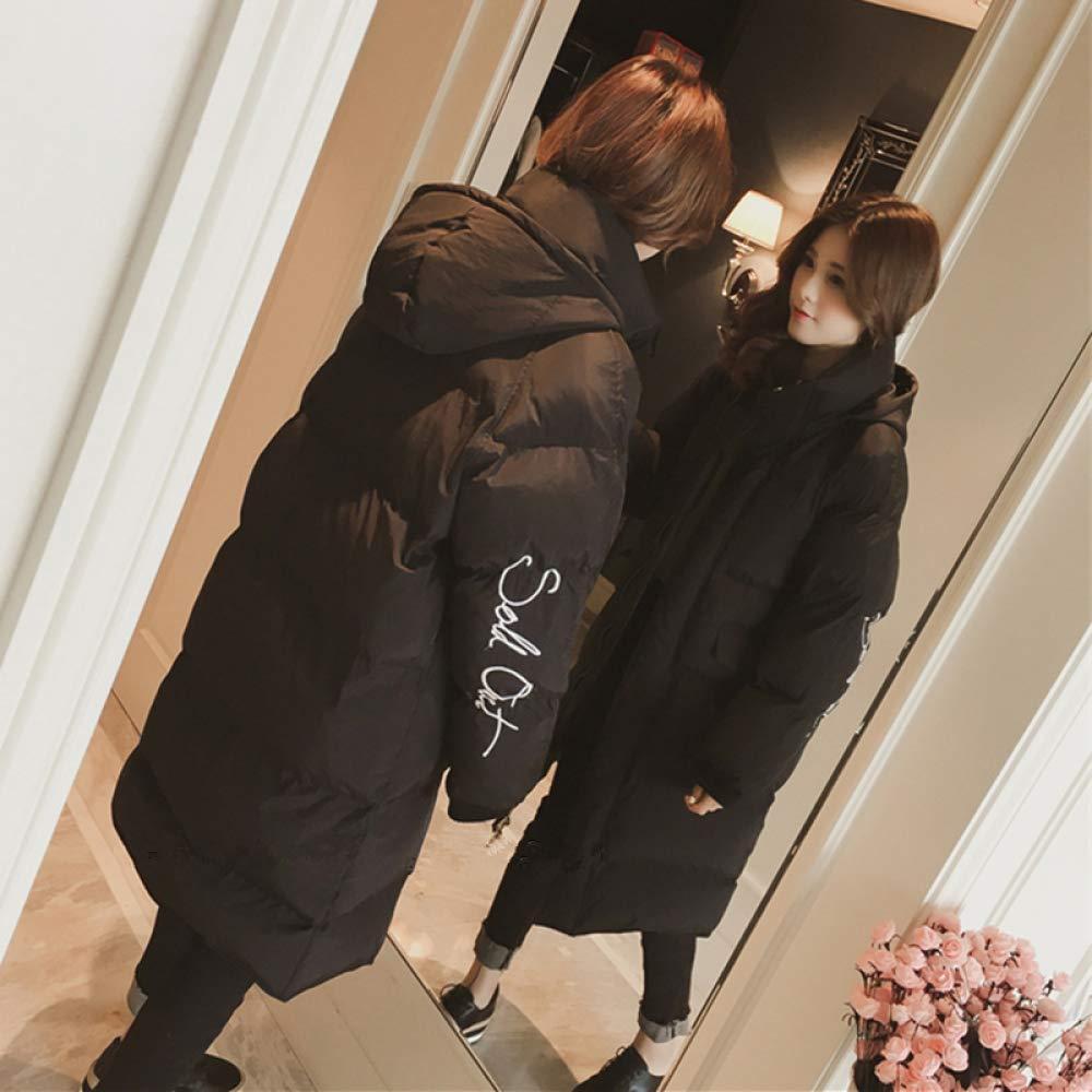 Black XL (125-135 kg) Black XL (125-135 kg) CLOTHES Cotton Clothing Autumn Women's Clothing, 2018 Micro Fat Mm Large Size 200 Kg Winter Jacket, Medium Long Bread Service Tide
