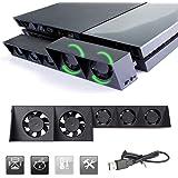 PS4 Pro Ventilador de refrigeración & 5-Port USB Hub Combo Kit ...