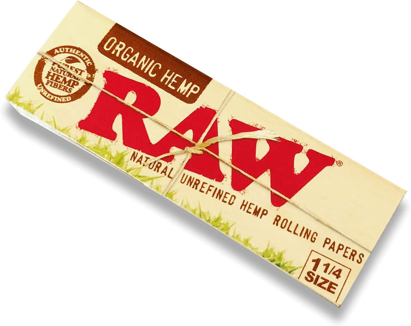 Raw Unrefined Classic 1.25 1 1/4 Size Cigarette Rolling Papers, 4 Packs