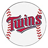 """Fan Mats """"minnesota Twins Mlb """"baseball"""" Round Floor Mat (29"""")"""""""