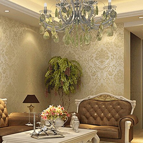 - Room Design - European Non Woven Metallic Modern Floral Damask Wallpaper Living Room Design Vintage Textured Roll - Sticker Gaming Boys Kids Paper Design Designs Tools Living Room Kits Softw