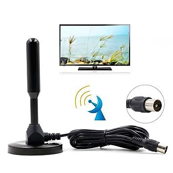 Domowin Antena Portátil con Base Magnética, Antena de Alta Ganancia TDT (Televisión Digital Terrestre