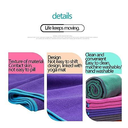 Antideslizante Toallas de Yoga Mat Cover Microfibra plegable ...