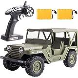 ラジコンカー Remoking RCカー ロッククローラ リモコンカー 1/14 RCホビートラック2.4Ghz無線操作 RTR 車 おもちゃ子供 玩具 2個のバッテリー