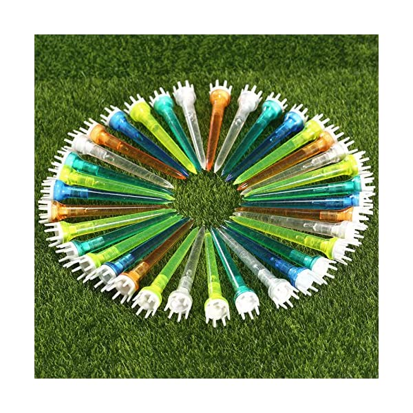 MUXSAM-50100pcs-Plastic-Golf-Tee-Assorted-Golf-Crown-Shape-Booster-Tees-78mm-Friction-Reduce-Tee