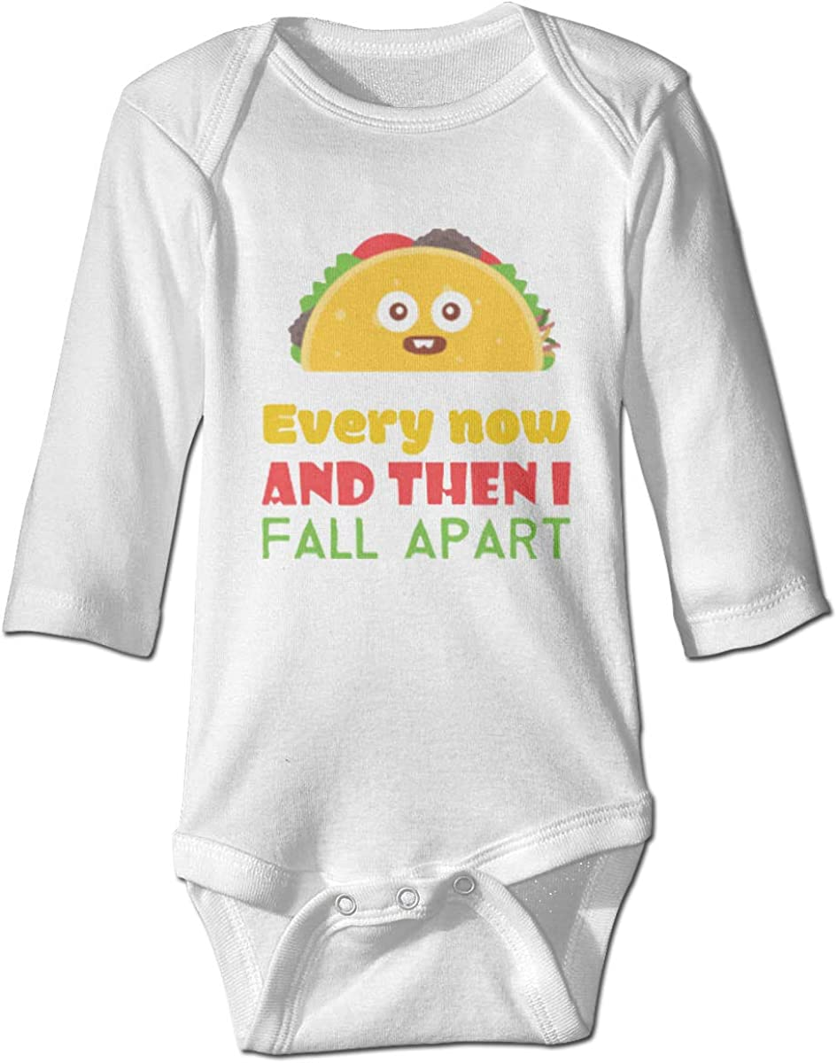Marsherun Babys Girl Boy Every Now and Then I Fall Apart Taco Long Sleeve Rompers Playsuit