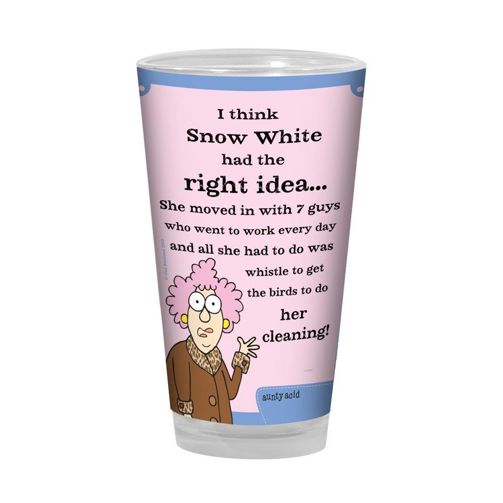 Snow White Tree-Free Greetings PG02823 Aunty Acid Artful Alehouse Pint Glass 16-Ounce