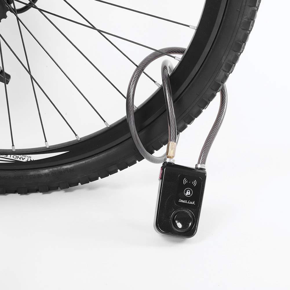 Motocicletta Lucchetto Senza Chiave per Biciclette Senza Chiave Serratura antifurto per Moto Lucchetto a Combinazione per Porta in Vetro Lucchetto Bluetooth Impermeabile per Bici Scooter