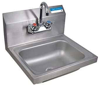 Ordinaire BK Resources Wall Mount Stainless Steel Hand Sink With 4u0026quot; On Center  Splash Mount 3.5u0026quot