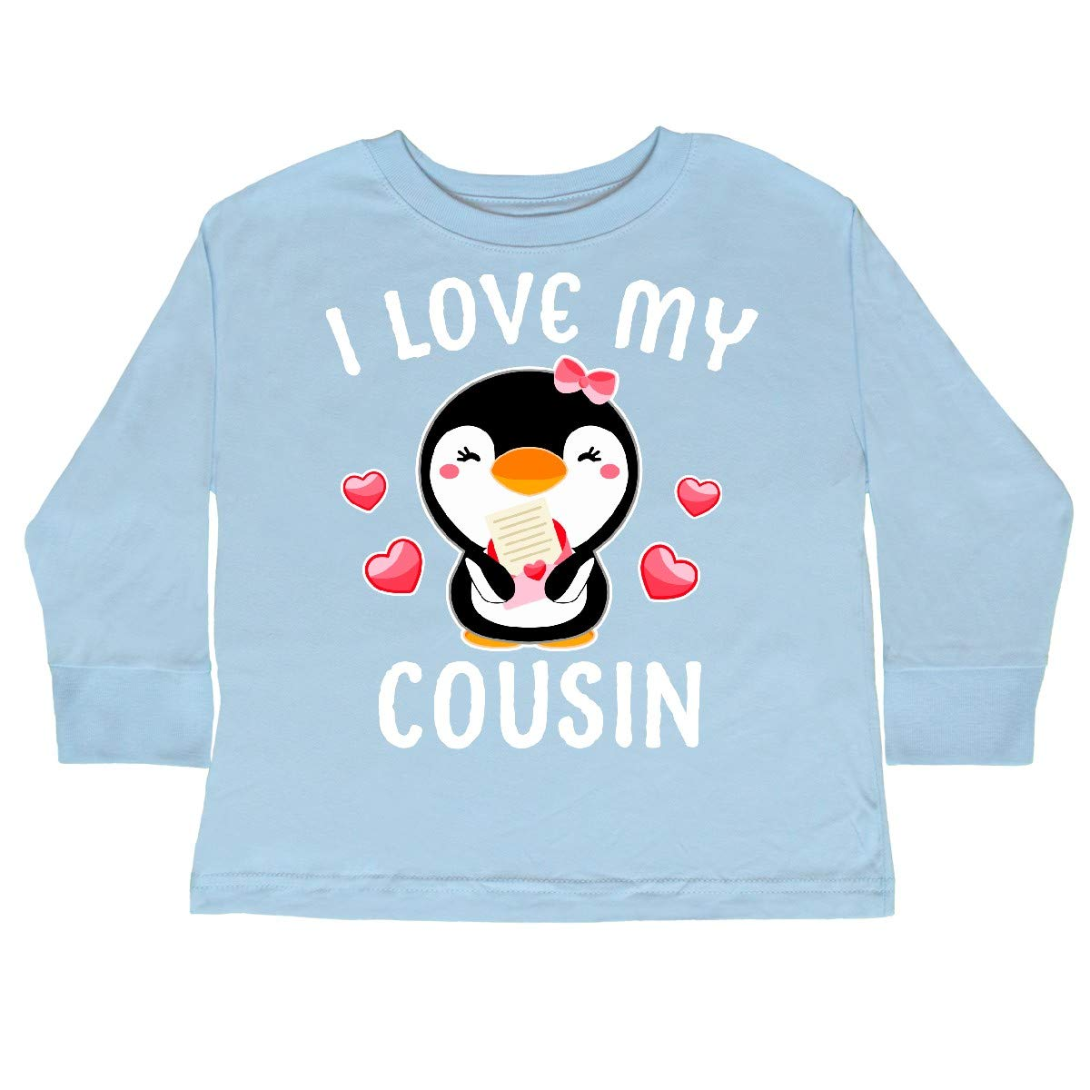 inktastic I Love My Cousin with Cute Penguin and Toddler Long Sleeve T-Shirt