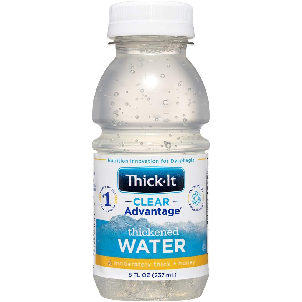THICK-IT Clear Advantage Thickened Water - Moderately Thick/Honey, Water, 8 Oz Bottle (Pack of 1) (45302601)