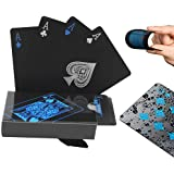 Prettywan Waterproof PVC Playing Cards Set Pure Color Black Poker Card Classic Magic Tricks Tool Yacht Game Party Toy…