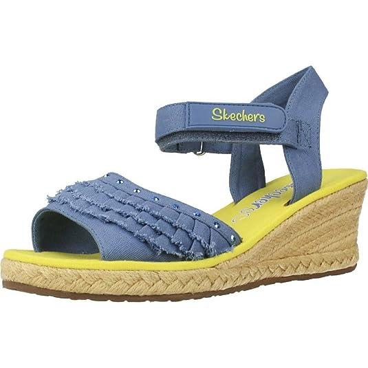 Skechers Sandali e Infradito per Ragazza, Color Blu, Marca, Modelo Sandali E Infradito per Ragazza Tikis Ruffle Ups Blu