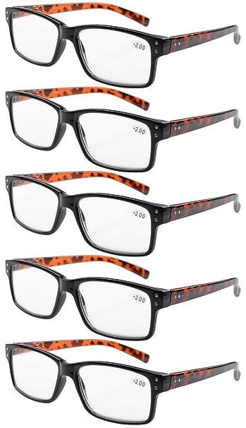 79251c7b532a Image Unavailable. Image not available for. Color: Eyekepper 5-Pack Spring  Hinges Vintage Reading Glasses Men Readers Black Frame ...