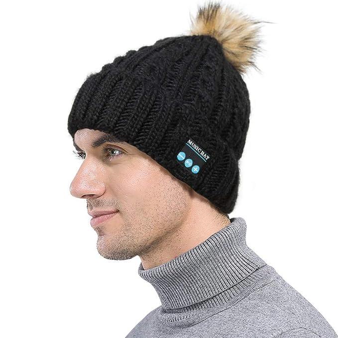 Sencillo Vida Sombrero de Musica Bluetooth Beanie Hombre Sombreros Gorras  Boinas Gorra de Béisbol Gorra de 6cf0173e3a9
