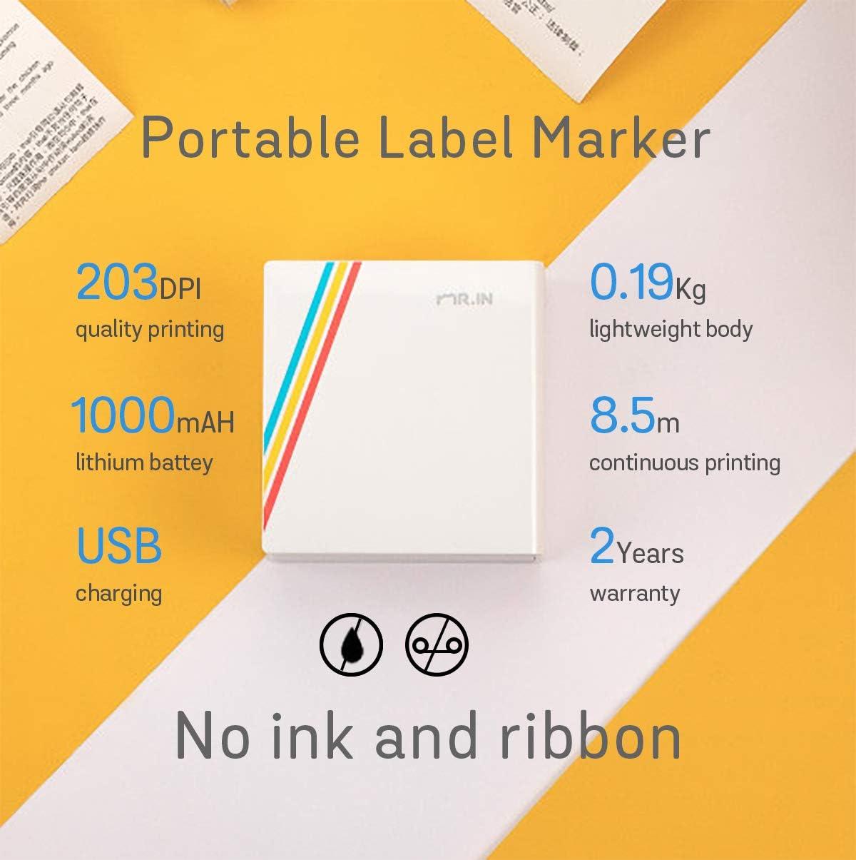 Amazon.com: Impresora térmica portátil con Bluetooth para ...