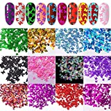 12 Colors/set 3D Butterfly Nail Glitter
