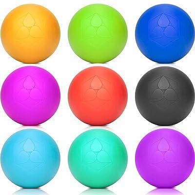 Balle Lacrosse »Lio« de #DoYouFitness / idéale pour le fitness, le traitement ponctuel des contractions et raidissements musculaires / Poduit haute qualité (6 cm de diamètre) pour le massage p