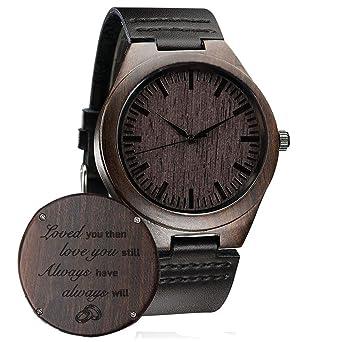 Reloj de pulsera de madera personalizable para hombres ...