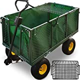 Deuba Large Garden Trolley Truck Cart with Removable Side Walls DIY Outdoor Heavy Duty Transport Utility Wagon Cart