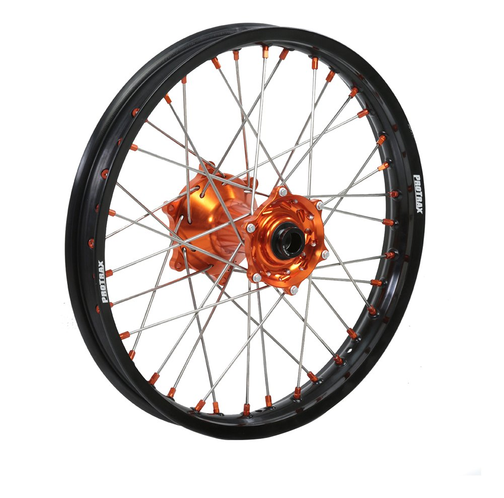 ProTrax Complete Rear Wheel Rim 19''X1.85 Orange Hub KTM 125SX 250SX 450SXF 13-17
