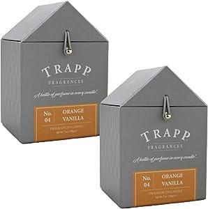 Trapp Signature Home Collection No.4 Orange Vanilla 7oz Scented Candle, Set of 2