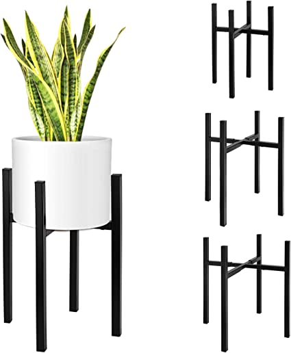 Metal Flower Planter Pot Stand for Snake Plants Display Rack Fits Up to 10 Inch Planter Plant Pot Not Included HOMENOTE Indoor Plant Stand Modern Plant Holder Mid Century Plant Stand
