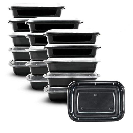 10 recipientes rectangulares de comida para preparar comida ...