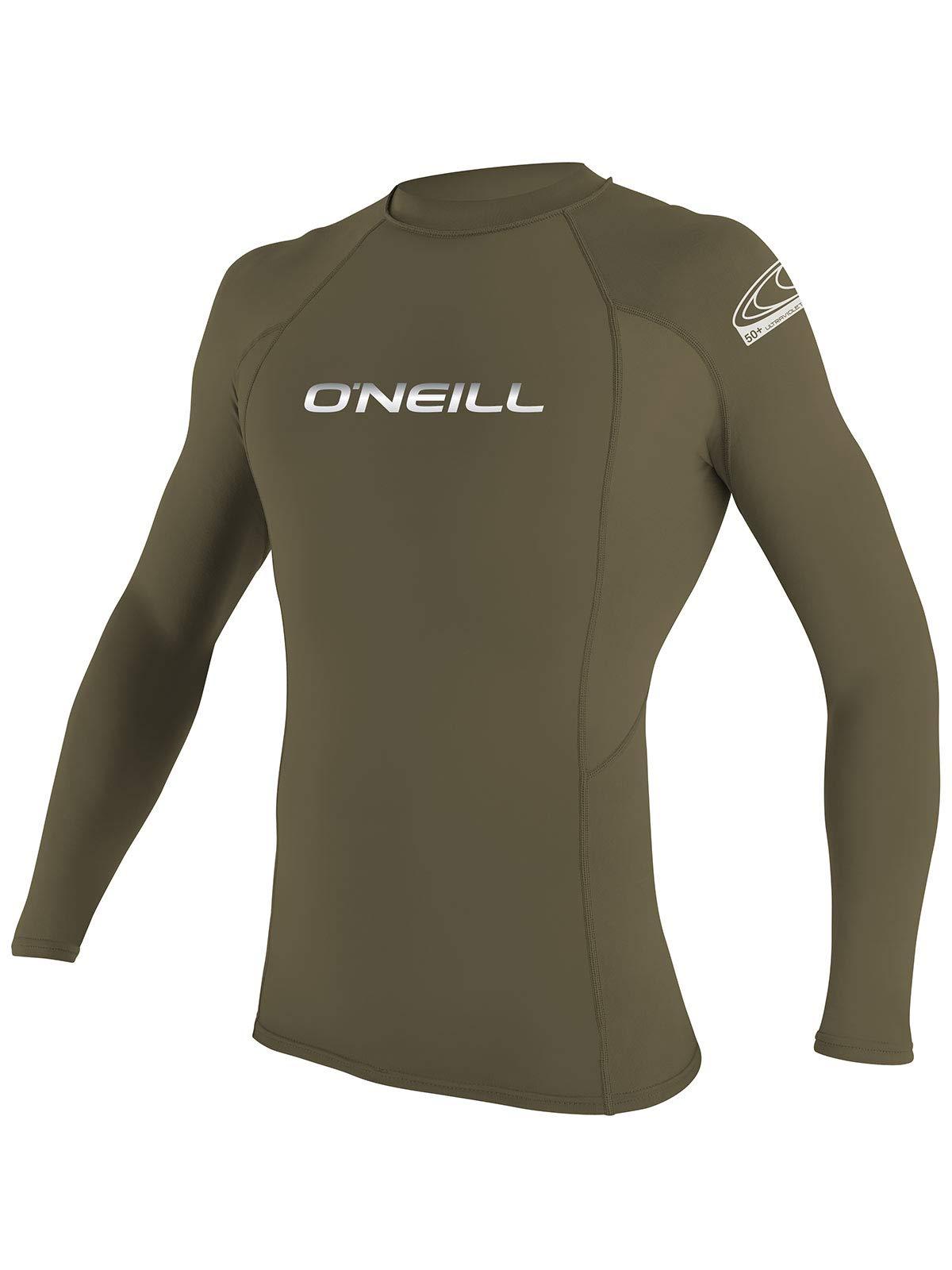 O'Neill Men's Basic Skins Long Sleeve Rashguard S Khaki (3342IB)