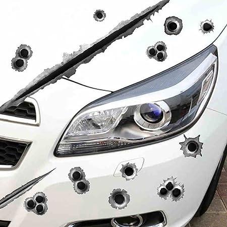 21X30CM Waterproof 3D Bullet Holes Car Sticker Scratch Decal Motorcycle Stickers