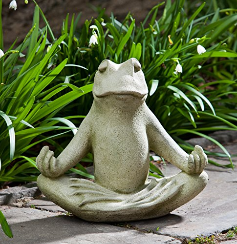 Campania International A-427-EM Totally Zen Too Statue, English Moss
