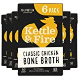 Chicken Bone Broth Soup by Kettle and Fire, Pack of 6, Keto Diet, Paleo Friendly, Whole 30 Approved, Gluten Free, with…