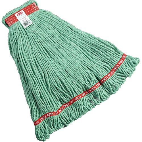 Rubbermaid Commercial FGA11306GR00 Web Foot Wet Mop Head, 1-inch Headband, Large, Green