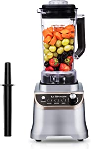 La Reveuse Professional Countertop High Speed Blender with 1200 Watts Base-51 oz BPA Free Jar for Frozen Drinks and Smoothies