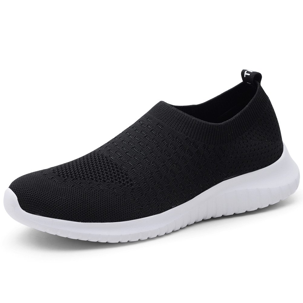 TIOSEBON Women's Athletic Shoes Casual Mesh Walking Sneakers - Breathable Running Shoes B07DWWMT44 6 M US|6703 Black