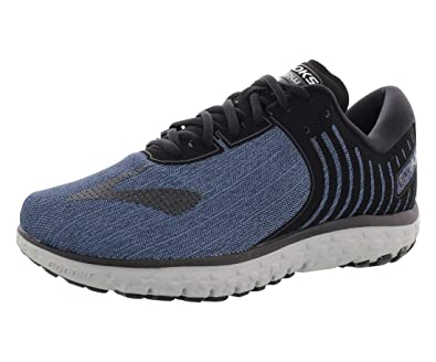 a143574b0f7 Brooks Men s PureFlow 6 Heather Black Denim Blue Nylon Running Shoes 11. 5  M US  Buy Online at Low Prices in India - Amazon.in