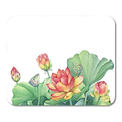 Amazoncom Semtomn Gaming Mouse Pad Pink Lotus Flower Leaves Seed