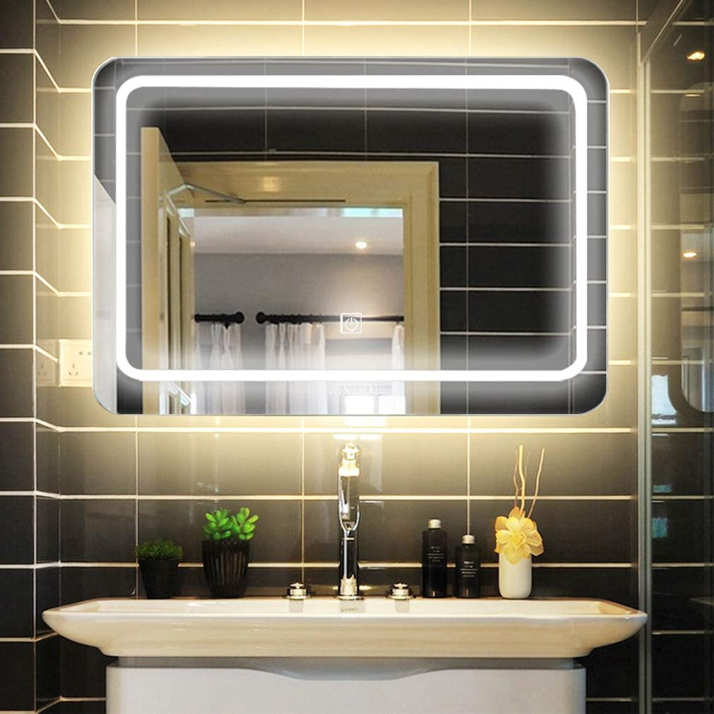 Moderne Miroir Salle De Bain Lumineux LED Illumination INTERRUPTEURBLUETOOTH