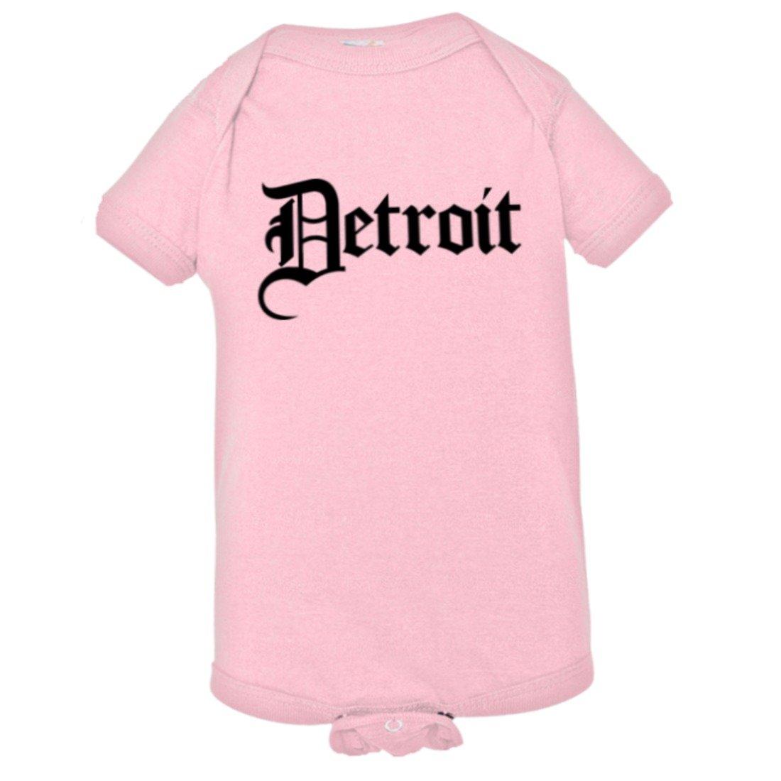 Baby Detroit Gothic Fancy Classic Font Michigan HQ Bodysuit 1-Piece