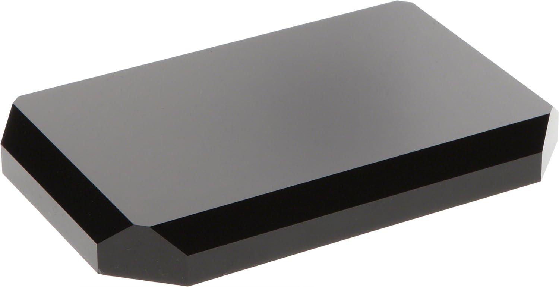"Plymor Black Acrylic Beveled Corner-Cut Rectangular Display Base, 0.75"" H x 6"" W x 4"" D"
