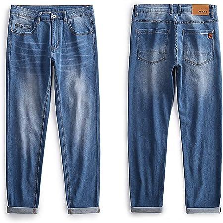 SZJY Jeans Rectos Otoño e Invierno Pantalones Vaqueros de