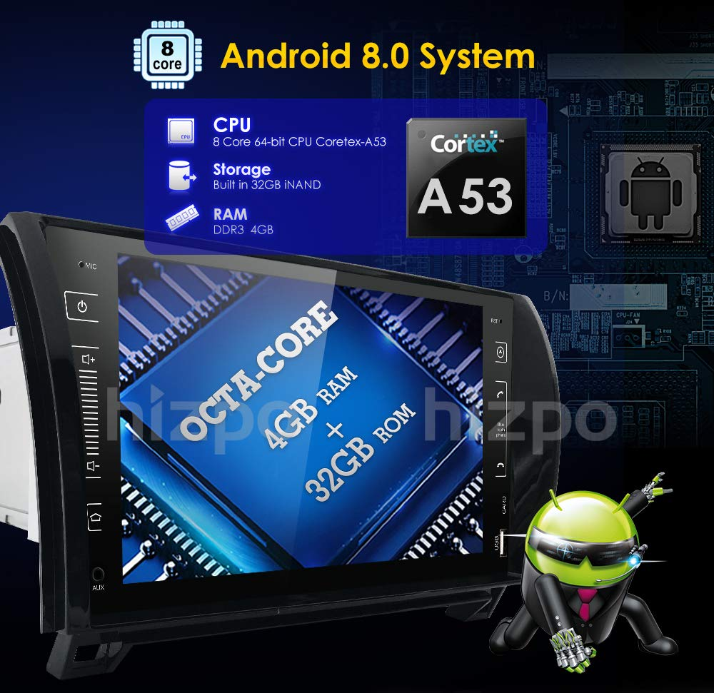 in Dash Android 8.0 Double Din 9 Inch Capacitive Touch Screen Car Stereo Mtce Android Head Unit Wiring Diagram on