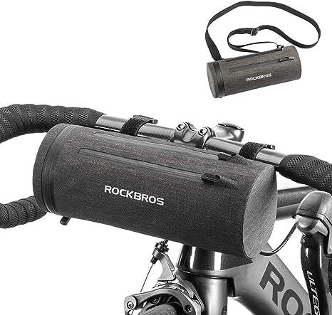 ROCKBROS Bolsa de Manillar de Bicicleta MTB Multifuncional 2L Bolsa de Cuadro Impermeable Ciclismo Negro Dorado: Amazon.es: Deportes y aire libre