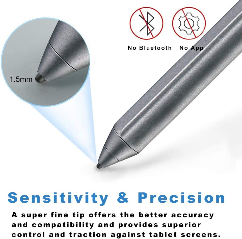 Broonel Red Fine Point Digital Active Stylus Pen Compatible with The ASUS Chromebook 14 C425TA 14 Inch