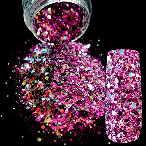 SaveStore Dazzling Radiancy Transparents Sequins Dust DIY Nail Glitter Decorations Nail Art Designs Gold Acrylic UV Mix Glitter Powder