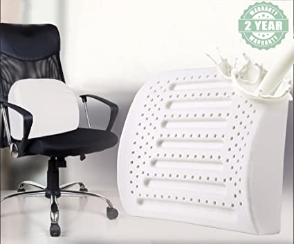 Latex Lumbar Support Pillow Car / Office Chair Lower Back Cushion Great Brace to & Amazon.com: Latex Lumbar Support Pillow Car / Office Chair Lower ...